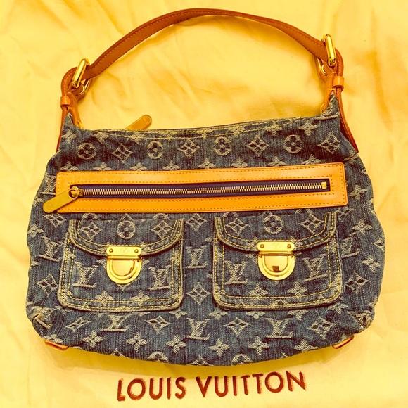 Louis Vuitton Handbags - LOUIS VUITTON Blue Denim Monogram Denim Baggy PM